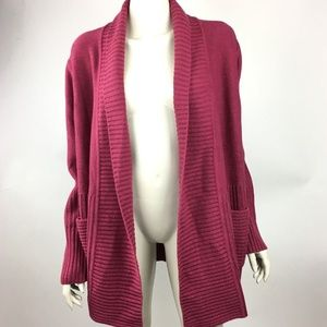 H by Halston Womens Large Maroon Long Sleeve NWOT